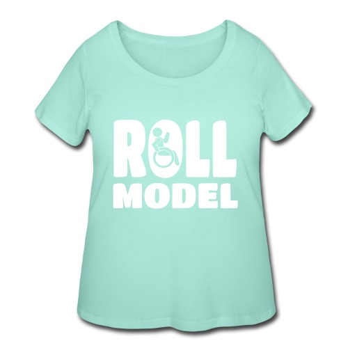Wheelchair Roll model - Women's Curvy T-Shirt
