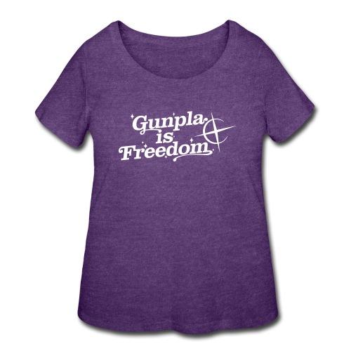 Freedom Men's T-shirt — Banshee Black - Women's Curvy T-Shirt