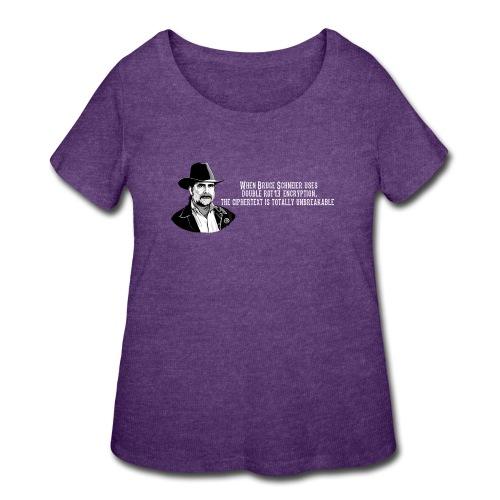 Bruce Schneier Fact #15 - Women's Curvy T-Shirt