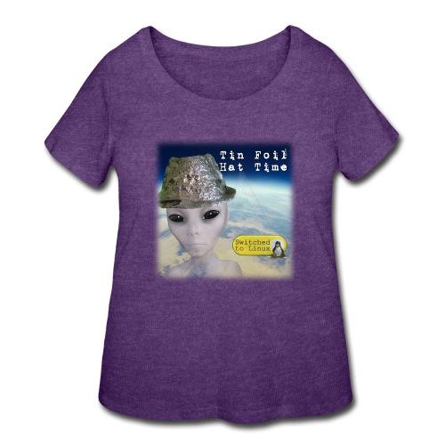 Tin Foil Hat Time (Earth) - Women's Curvy T-Shirt