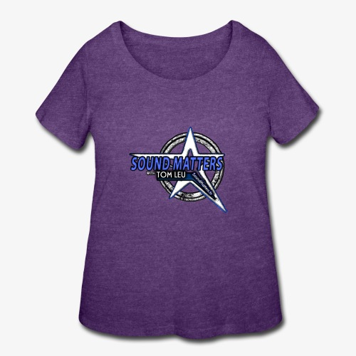 SOUND MATTERS Badge - Women's Curvy T-Shirt