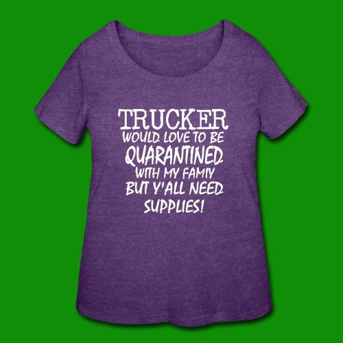 Trucker Supplies - Women's Curvy T-Shirt