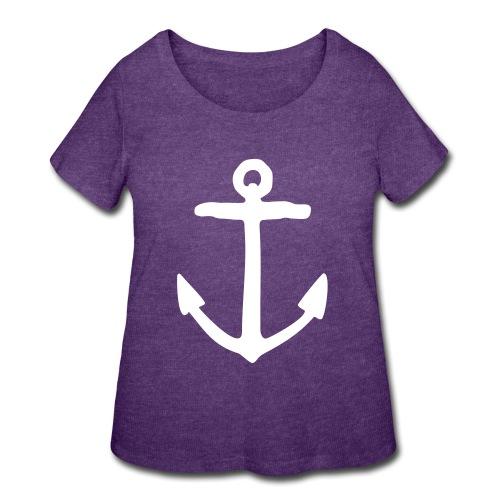 Anchor Sailor Sailing Boating Yachting - Women's Curvy T-Shirt