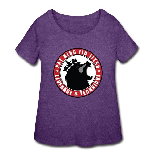 PK Merch grey22 - Women's Curvy T-Shirt