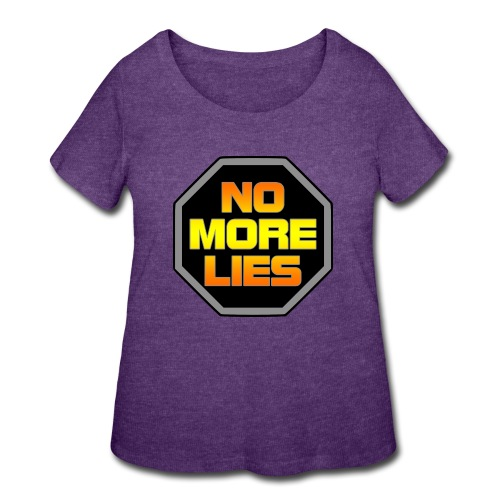 stopp no more lies - Women's Curvy T-Shirt