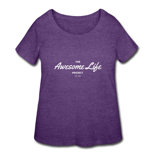 The AwesomeLife Project Logo White - Women's Curvy T-Shirt