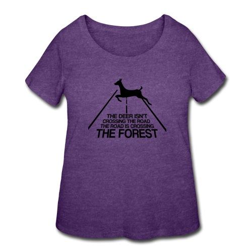 Deer's forest - Women's Curvy T-Shirt