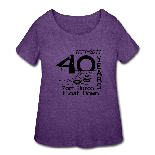 Port Huron Float Down 2017 - 40th Anniversary Shir - Women's Curvy T-Shirt
