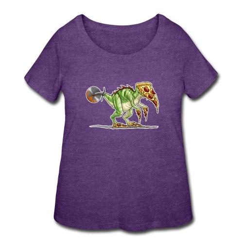 pizzasaurus - Women's Curvy T-Shirt