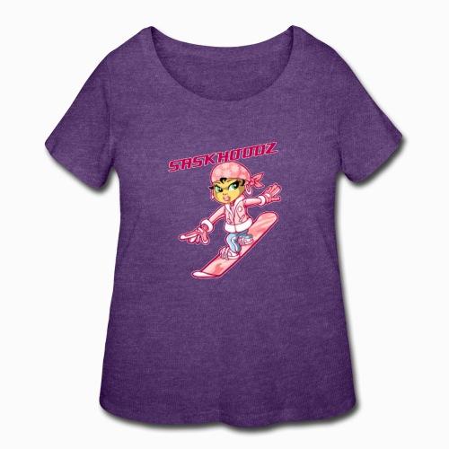 saskhoodz girl - Women's Curvy T-Shirt