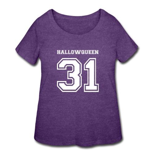 Halloween Hallowqueen - Women's Curvy T-Shirt