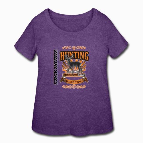 saskhoodz deer - Women's Curvy T-Shirt