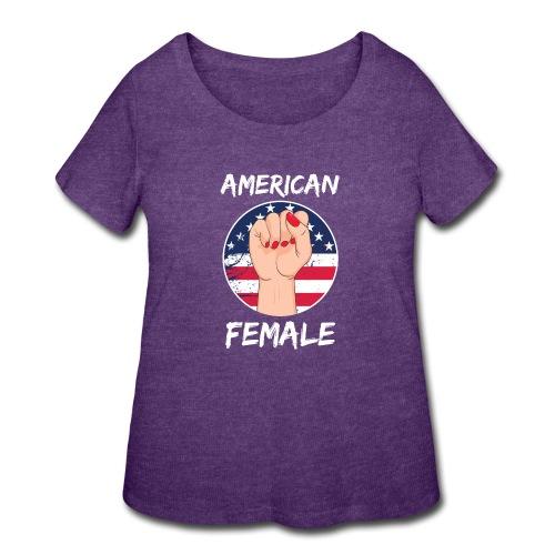 THE AMERICAN FEMALE - Women's Curvy T-Shirt