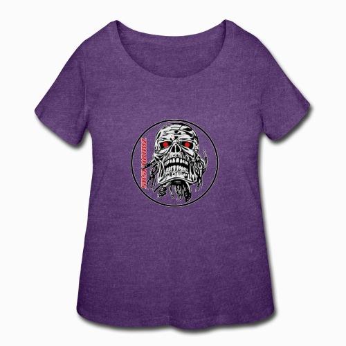 saskhoodz skull - Women's Curvy T-Shirt
