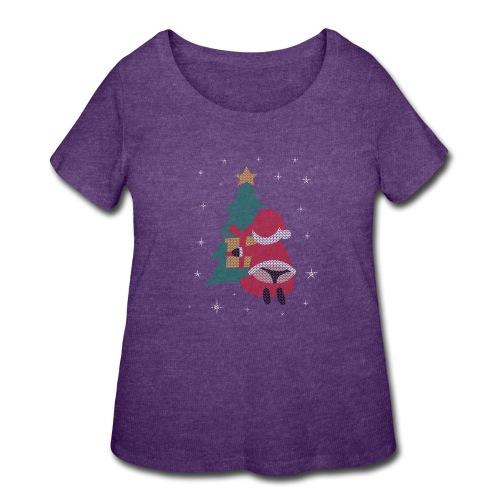 Ugly Christmas Sweater String Thong Santa - Women's Curvy T-Shirt