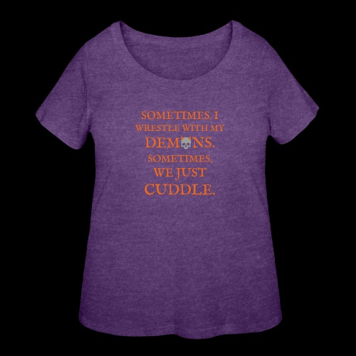 Demon Cuddles - Women's Curvy T-Shirt