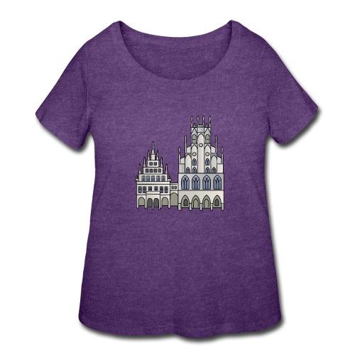 Town Hall Münster, Cityhall, Mayor - Women's Curvy T-Shirt