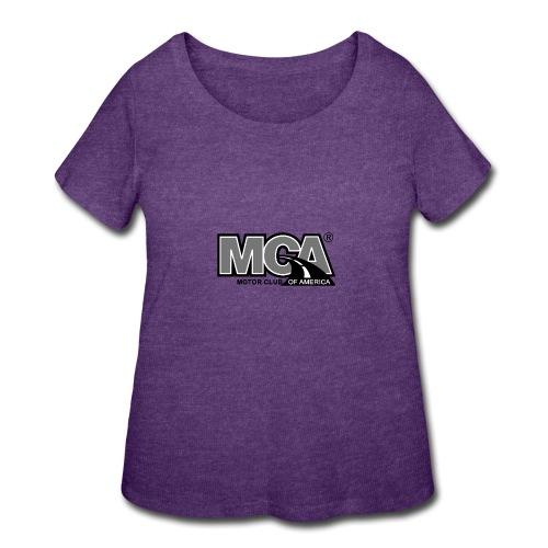 MCA Logo WBG Transparent BLACK WHITE TITLEfw fw pn - Women's Curvy T-Shirt