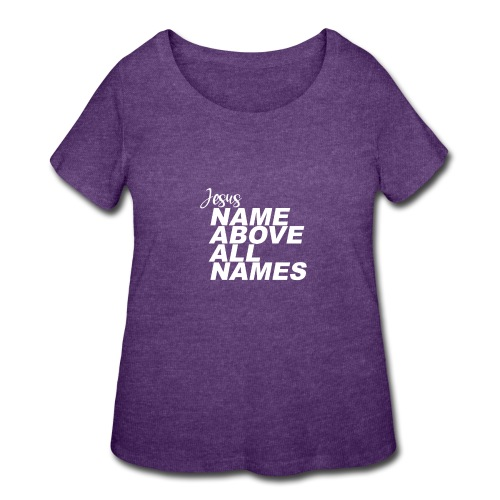 Jesus: Name above all names - Women's Curvy T-Shirt