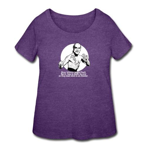 Bruce Schneier Fact #10b - Women's Curvy T-Shirt