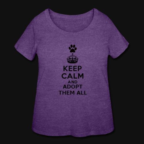 KEEP CALM - Women's Curvy T-Shirt