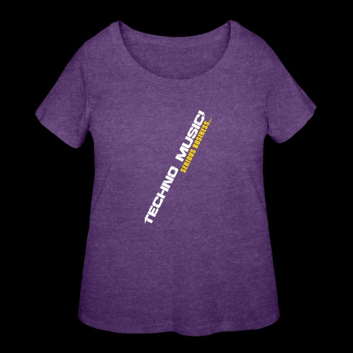 Techno Music - Women's Curvy T-Shirt