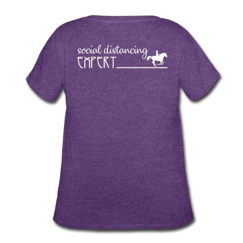 Social Distancing Expert - Women's Curvy T-Shirt