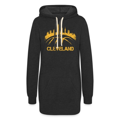 Cleveland Basketball Skyline - Women's Hoodie Dress