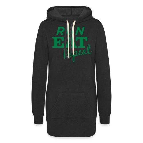Run Eat Repeat buttons medium - Women's Hoodie Dress