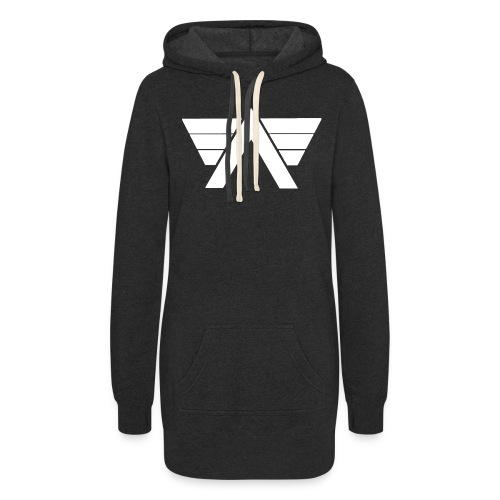 Bordeaux Sweater White AeRo Logo - Women's Hoodie Dress