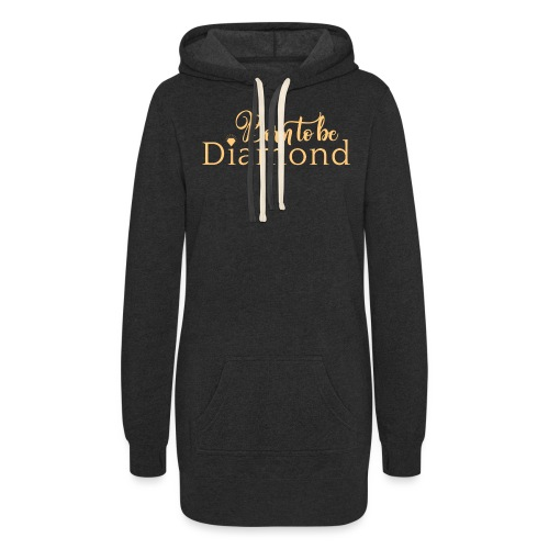 Born to be Diamond - gold - Women's Hoodie Dress