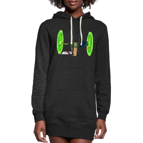 Trump and the Space Portal - Women's Hoodie Dress