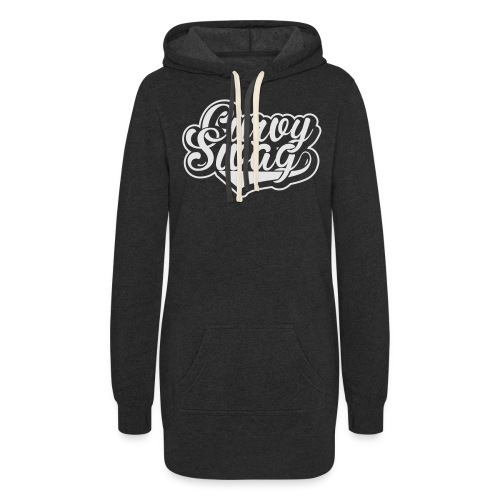 Curvy Swag Reversed Out Design - Women's Hoodie Dress