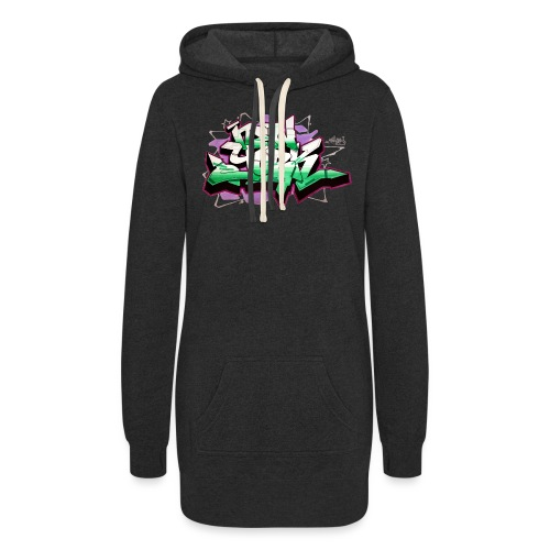 RANGE - Design for New York Graffiti Color Logo - Women's Hoodie Dress