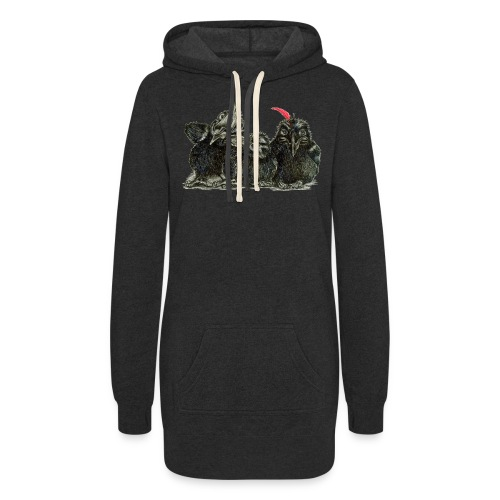 Three Young Crows - Women's Hoodie Dress