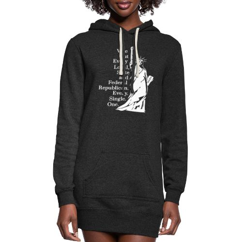 Vote Out Republicans Statue of Liberty - Women's Hoodie Dress