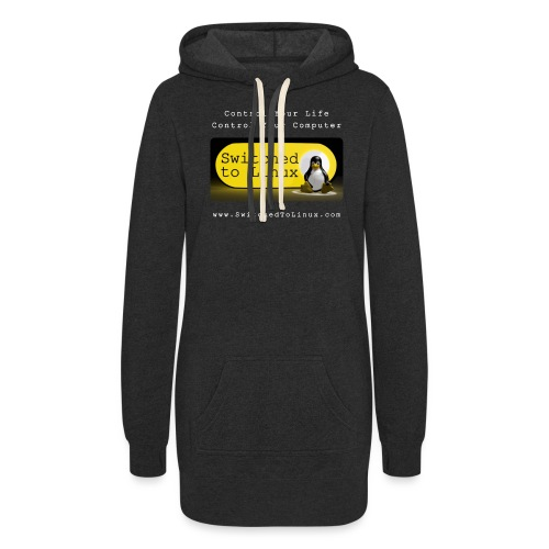 Switched To Linux Logo and White Text - Women's Hoodie Dress