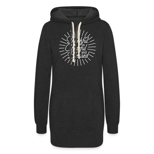 Thankful, Grateful and Blessed Design - Women's Hoodie Dress