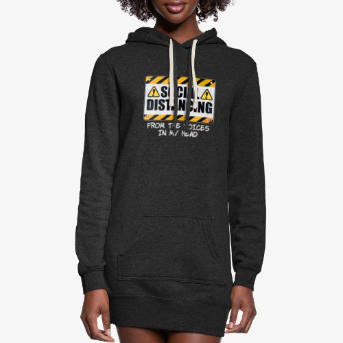 Social Distancing from the Voices In My Head - Women's Hoodie Dress