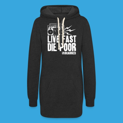 The Scarred - Live Fast Die Poor - Boombox shirt - Women's Hoodie Dress