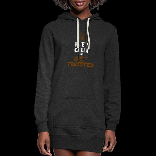Keep Calm and Get Twisted Pretzel - Women's Hoodie Dress