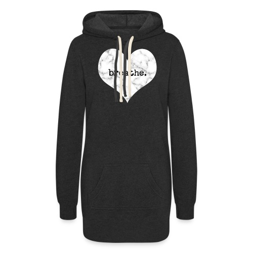 Breathe Heart (Marble) - Women's Hoodie Dress