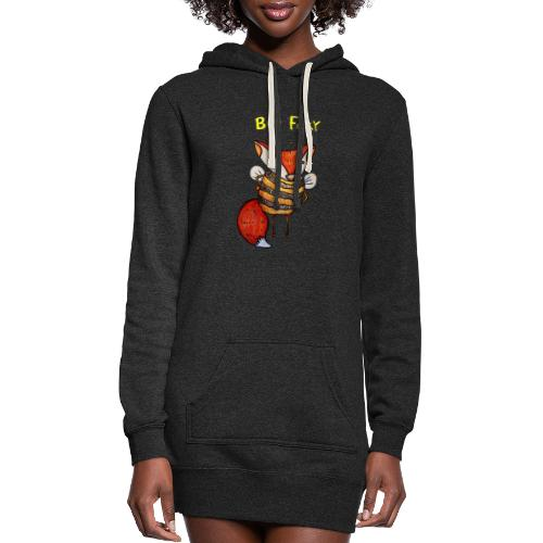 beefoxytoby - Women's Hoodie Dress