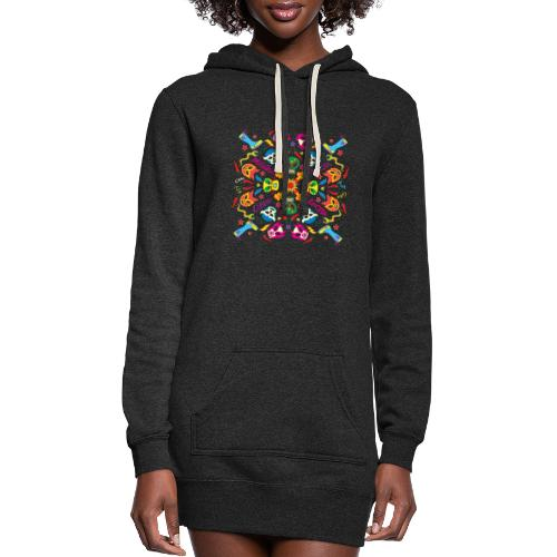 Cool Mexican wrestlers ready to fight and have fun - Women's Hoodie Dress