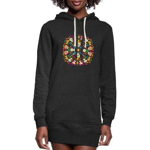 Cool Mexican skulls celebrating Day of the Dead - Women's Hoodie Dress