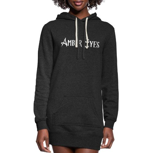 AMBER EYES LOGO IN WHITE - Women's Hoodie Dress