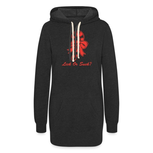 Lick Or Suck Candy Cane - Women's Hoodie Dress
