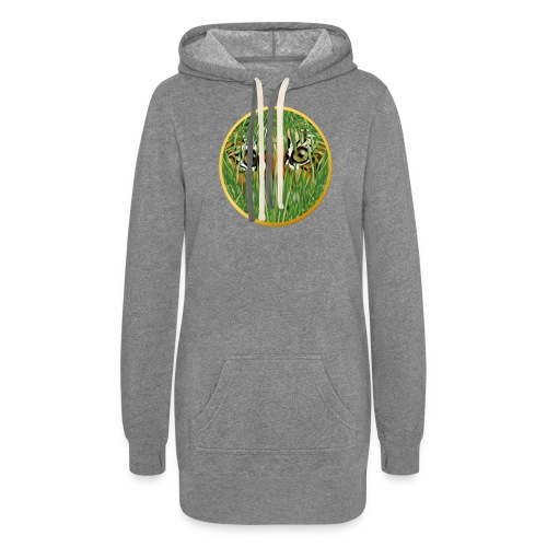 Tiger In The Grass - Women's Hoodie Dress
