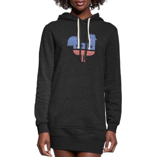 chicken party distressed - Women's Hoodie Dress