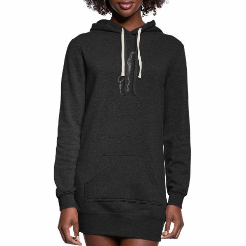 Tenor Saxophone · white - Women's Hoodie Dress